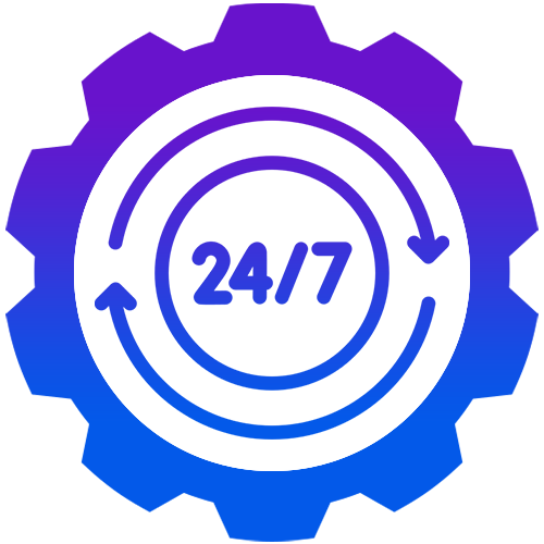 24×7 Support